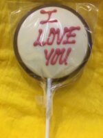 I Love You Chocolate Lolly